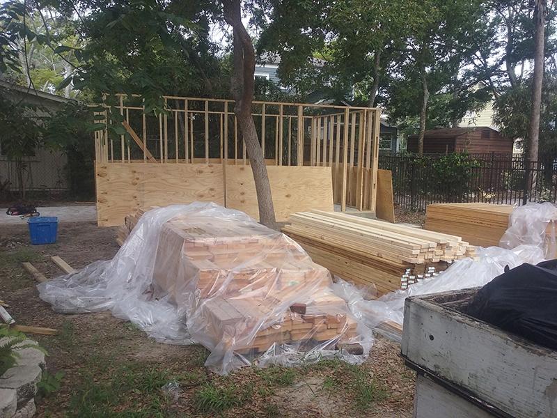 American Hammer Garage Build Lincolnville (10)
