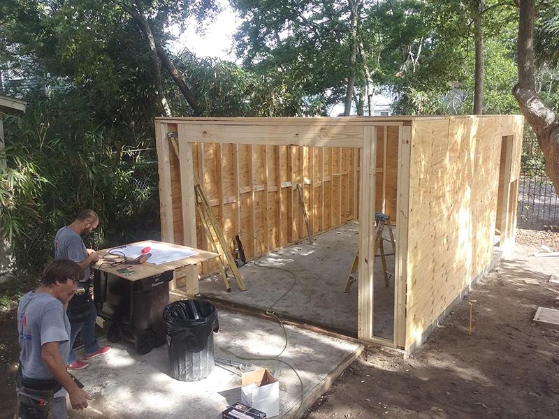 American Hammer Garage Build Lincolnville (16)