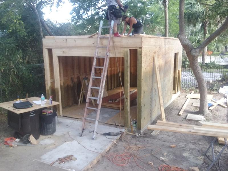 American Hammer Garage Build Lincolnville (19)
