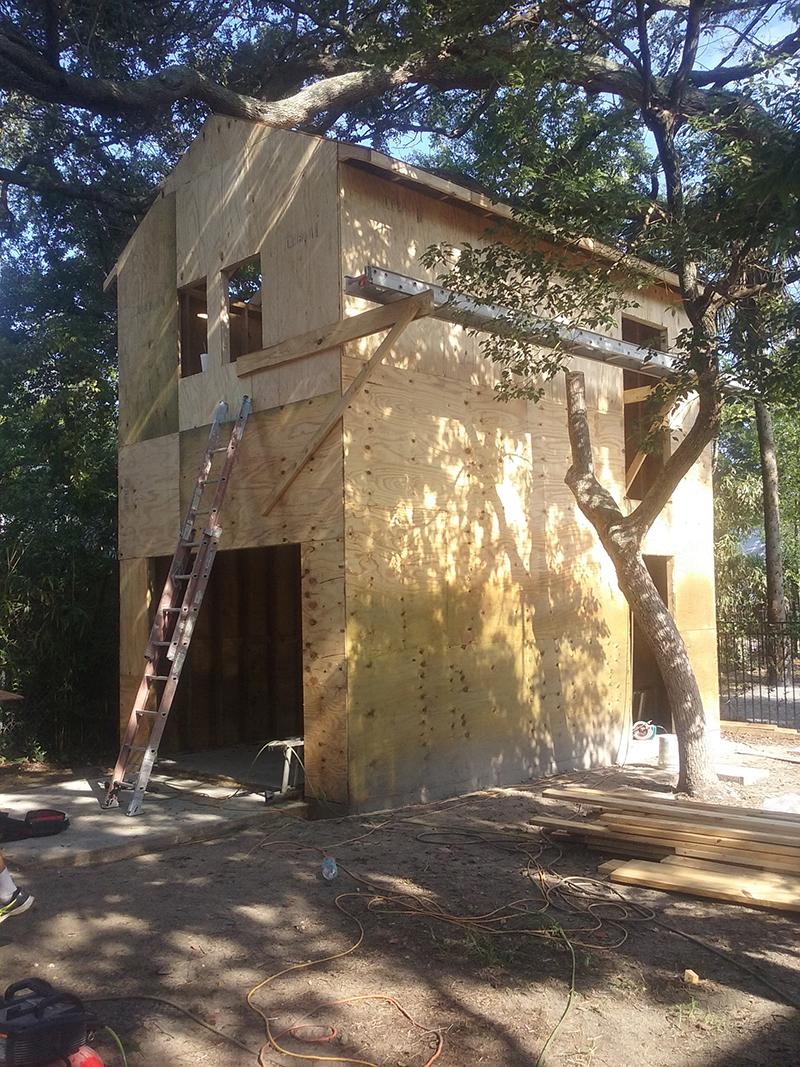American Hammer Garage Build Lincolnville (22)