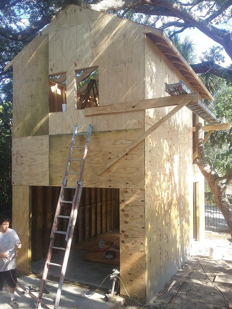 American Hammer Garage Build Lincolnville (27)