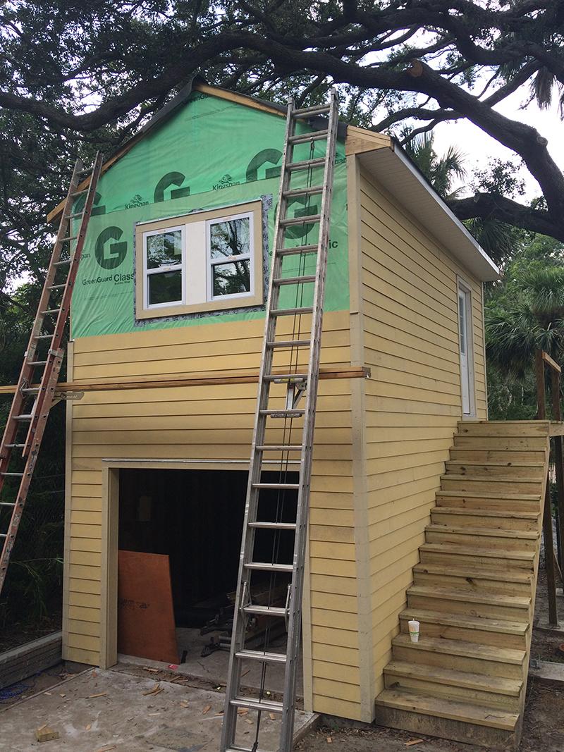 American Hammer Garage Build Lincolnville (32)