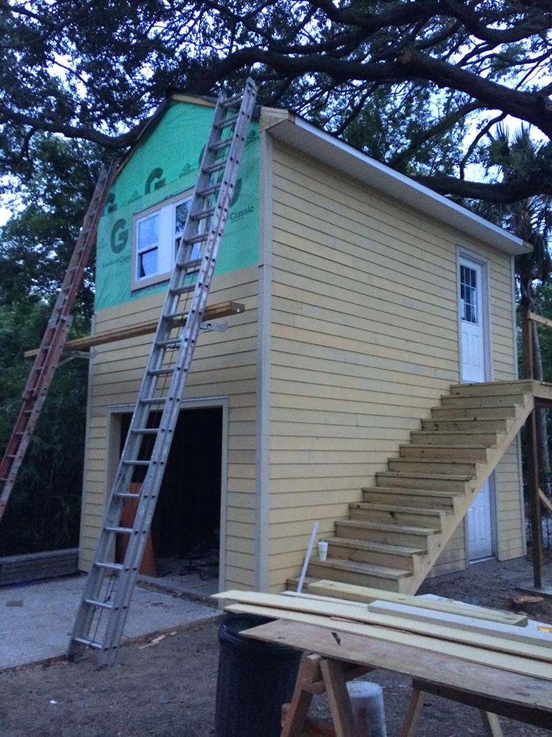 American Hammer Garage Build Lincolnville (36)