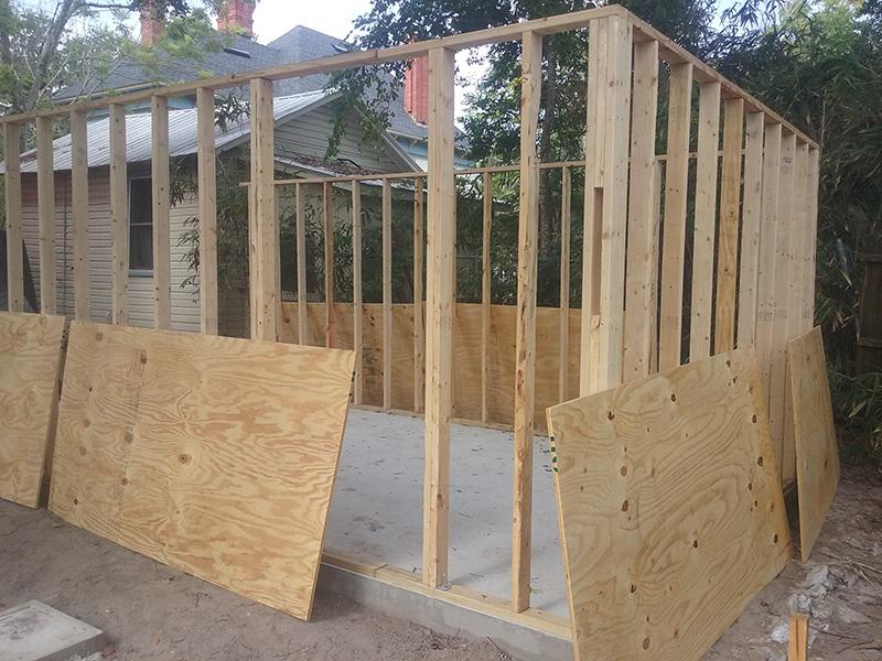 American Hammer Garage Build Lincolnville (8)