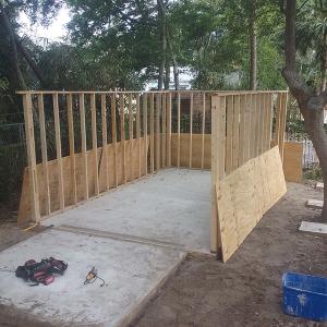 American Hammer Garage Build Lincolnville (6)