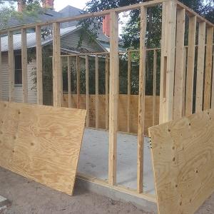 American Hammer Garage Build Lincolnville (9)